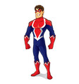 friendly superhero standing vector image vector image