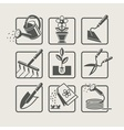 Garden tools Icons set vector image vector image