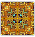 geometric tribal colorful ethnic abstract design vector image vector image