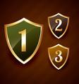 golden ranking label badge design vector image vector image