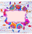 Grunge colorful flowers background EPS 8 vector image