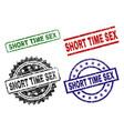 grunge textured short time sex stamp seals vector image