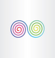 infinity color spectrum spyral symbol vector image