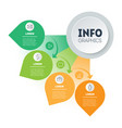 infographic in form a sector circle vector image vector image