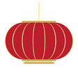 isolated chinese lamp chinese new year vector image vector image