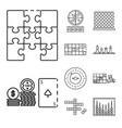 isolated object puzzle and jackpot icon set of vector image