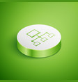 isometric computer network icon isolated on green vector image vector image