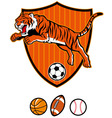jumping tiger as sport mascot vector image