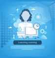 learning training education online concept web vector image vector image
