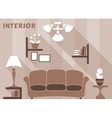 Living room modern interior design in flat style vector image