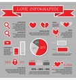 Love infographic for Valentines Day vector image vector image