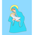 Madonna and child Jesus vector image