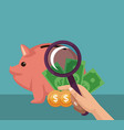 money and savings concept vector image