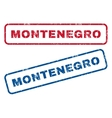 Montenegro Rubber Stamps vector image vector image
