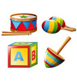 musical instruments and toys vector image