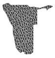 namibia map gdp mosaic of dollar and dots vector image