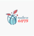 natural gift isolated emblem vector image vector image