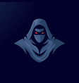 ninja mascot logo design with modern vector image