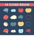 outlines of the brain vector image vector image