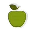 Patterned green apple vector image vector image
