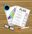 plan business annual and financial growth vector image