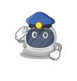 police officer astronaut helmet wearing a hat