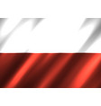 polish national flag background vector image