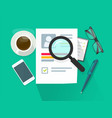 recruitment or employment research concept vector image vector image