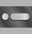 round and oval metal brushed plates on iron vector image vector image