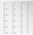 rulers measuring tool centimeters vector image