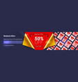 sale weekend offer 50 percent off ad vector image