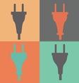 set electric plug sign icon power energy symbol vector image