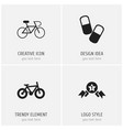 set of 4 editable complex icons includes symbols vector image vector image
