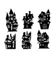 set of castle on a white background vector image