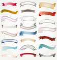 set of design ribbons banners vector image
