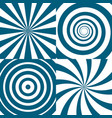 set of twirls psychedelic circles vector image vector image
