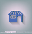 shop building symbol icon store shopping and vector image
