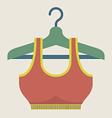 Single Women Sport Bra On Hanger vector image vector image