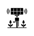 smart agriculture sensors black glyph icon vector image vector image