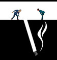 smoking cigarette smoking harmful vector image