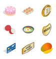suppertime icons set isometric style vector image vector image