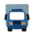 truck frontview icon image vector image vector image