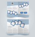 two page fold brochure template design vector image vector image