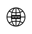 web site icon www symbol for internet domain and vector image