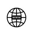 web site icon www symbol for internet domain vector image