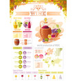 wine grapes food and drink infographics icons vector image