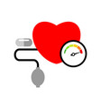 heart disease concept with pill icon isolated on vector image