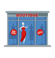 fashion dress boutique facade building or