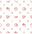 3d icons pattern seamless white background vector image vector image