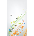 abstract colorful spring background with butterfly vector image